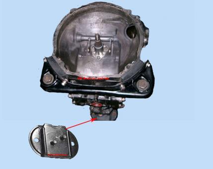 Getriebelager 2 Bolzen vorn 1961 - 1965