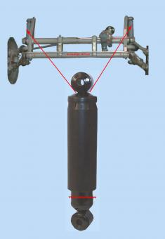 Stossdämpfer vorne Öldruck 1952-1965