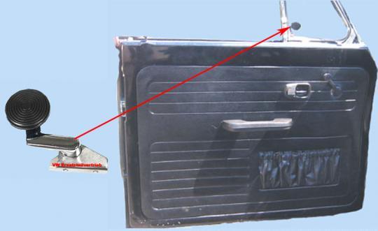 Verschluss Dreiecksfenster Cabrio ab 1967 Links