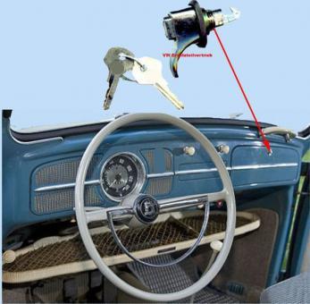 Handschuhfachschloss incl. Schlüssel bis 1967